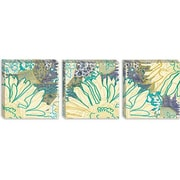iCanvas 'Flower Panel I' by Erin Clark Painting Print on Canvas; 12'' H x 36'' W x 1.5'' D