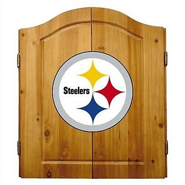 Imperial International NFL Team Logo Complete Dart Cabinet Set; Pittsburgh Steelers
