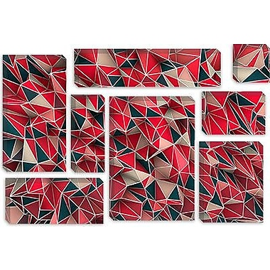 iCanvas 'Kaos Red' by Maximilian San Graphic Art on Canvas; 40'' H x 60'' W x 1.5'' D