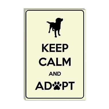 iCanvas Keep Calm and Adopt Textual Art on Canvas; 40'' H x 26'' W x 1.5'' D