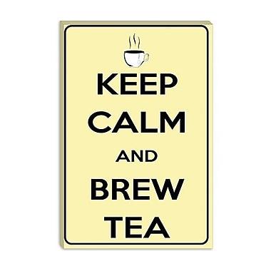 iCanvas Keep Calm and Brew Tea Textual Art on Canvas; 40'' H x 26'' W x 0.75'' D