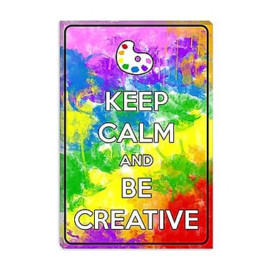 iCanvas Keep Calm and Be Creative Graphic Art on Canvas; 26'' H x 18'' W x 1.5'' D