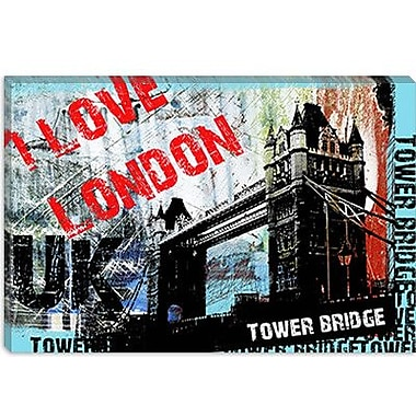 iCanvas ''I Love London'' by Luz Graphics Graphic Art on Canvas; 8'' H x 12'' W x 0.75'' D