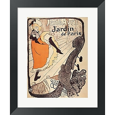 Evive Designs Jardin de Paris by Henri de Toulouse-Lautrec Framed Vintage Advertisement