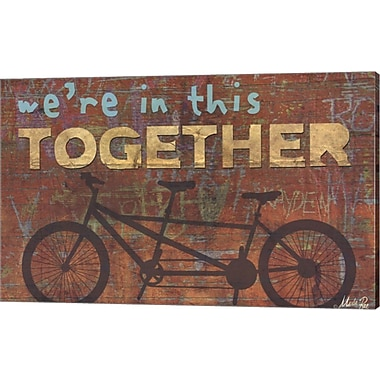 Evive Designs Together by Marla Rae Textual Art on Canvas