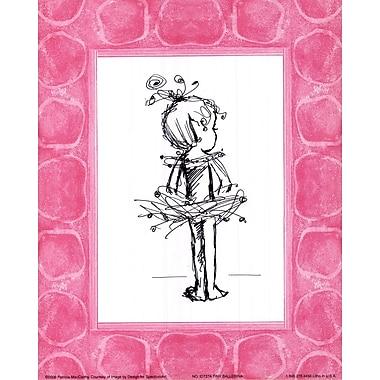 Evive Designs Tiny Ballerina Paper Print