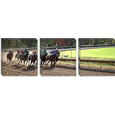 iCanvas Panoramic At the Race Track Photographic Print on Canvas; 12'' H x 36'' W x 1.5'' D