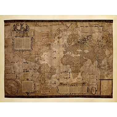 Evive Designs Map of the World, c.1500's by Mercator Gerhardt Graphic Art