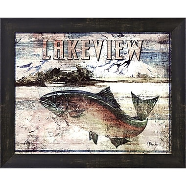 Evive Designs Lakeview by Paul Brent Framed Graphic Art