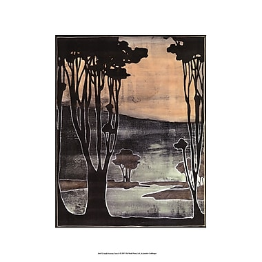 Evive Designs Small Nouveau Trees II by Jennifer Goldberger Painting Print
