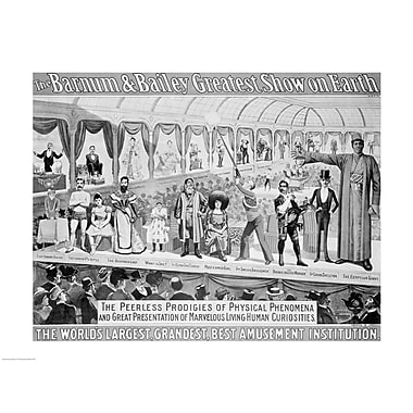 Evive Designs The Barnum and Bailey Greatest Show on Earth Vintage Advertisement