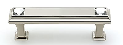 Alno Geometric 3'' Center Bar Pull; Polished Nickel