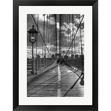 Evive Designs Brooklyn Bridge HDR 1 by Christopher Bliss Framed Photographic Print