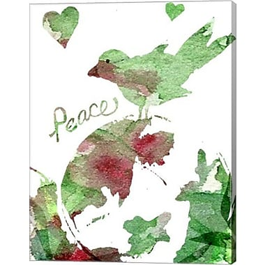 Evive Designs Peacebird by Holly Mcgee Painting Print on Wrapped Canvas