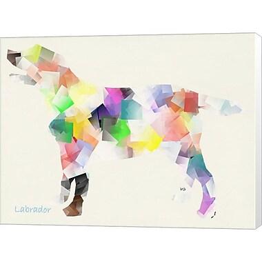 Evive Designs Labrador by Bri Buckley Graphic Art on Wrapped Canvas