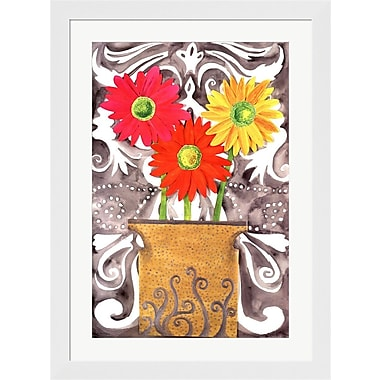 Evive Designs 3 Tin Flowers by Kaeli Smith Framed Painting Print