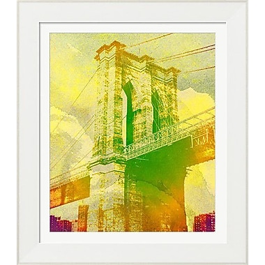 Evive Designs Brooklyn Bridge by The Evie Empire Framed Graphic Art