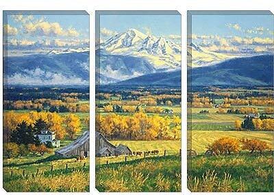iCanvas 'October Gold' by Randy Van Beek Painting Print on Canvas; 8'' H x 12'' W x 0.75'' D