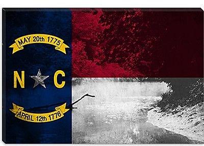 iCanvas North Carolina Flag, Eno River Grunge Graphic Art on Canvas; 40'' H x 60'' W x 1.5'' D
