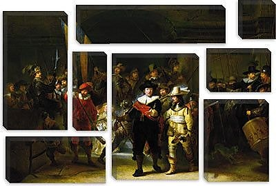 iCanvas 'Nightwatch' by Rembrandt Painting Print on Canvas; 12'' H x 18'' W x 1.5'' D