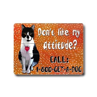 Artehouse LLC Attitude? Planked by Kate Ward Thacker Graphic Art Plaque