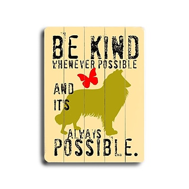 Artehouse LLC Be Kind Planked by Ginger Oliphant Graphic Art Plaque