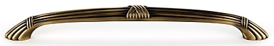 Alno Ribbon and Reed 18'' Center Appliance Pull; Antique English