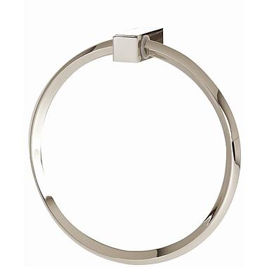 Alno SPA 2 Wall Mounted Towel Ring; Polished Nickel