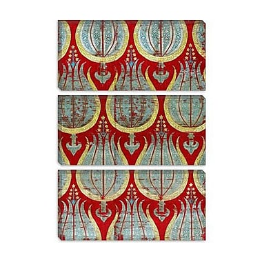 iCanvas Decorative Ottoman Tulips, Silk and Silver Lamella Textile Graphic Art on Canvas