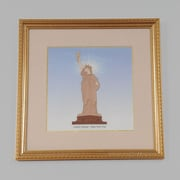 Old Modern Handicrafts New York City Liberty Statue by Billy Jacobs Framed Graphic Art