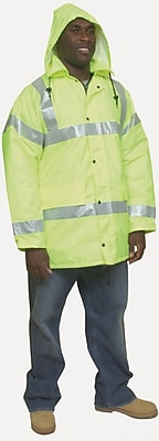 Mutual Industries ANSI Class 3 Winter Parka, Lime, Large