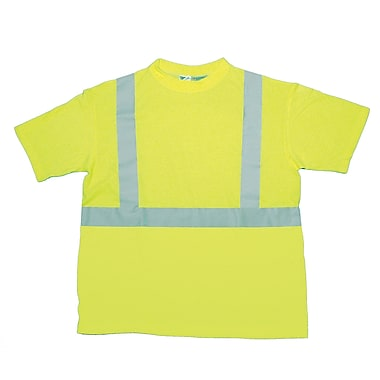 Mutual Industries Gann ANSI Class 2 Durable Flame Retardant Tee Shirt, Lime, 4XL