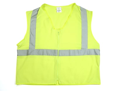 Mutual Industries Gann ANSI Class 2 Solid Durable Flame Retardant Safety Vest, Lime, 4XL