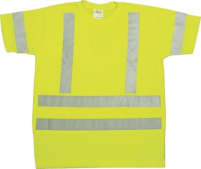 Mutual Industries Gann ANSI Class 3 Durable Flame Retardant Tee Shirt, Lime, 2XL