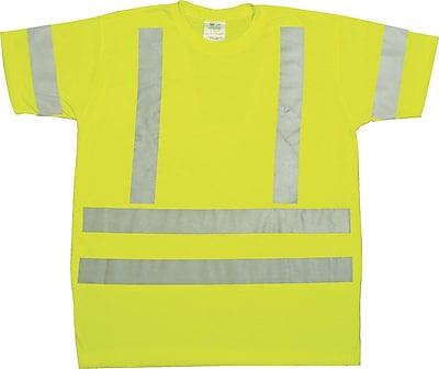 Mutual Industries Gann ANSI Class 3 Durable Flame Retardant Tee Shirt, Lime, Large