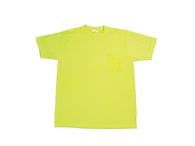 Mutual Industries Gann Durable Flame Retardant Plain Tee Shirt, Lime, XL