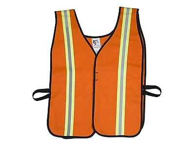 Mutual Industries MiViz High Visibility Flame Retardant Welders Vest, Orange, Large