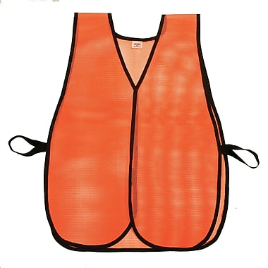 Mutual Industries MiViz Plain Heavy Weight Safety Vest, Orange