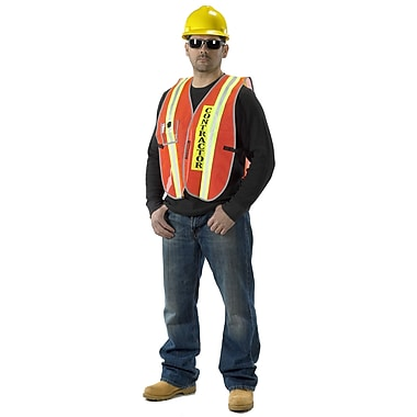 Mutual Industries MiViz Heavy Weight Transit Authority Contractor Vest With ID Pocket, Orange
