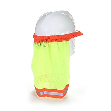 Mutual Industries Kromer ANSI Hard Hat Neck Shade With Reflective Stripes, Lime