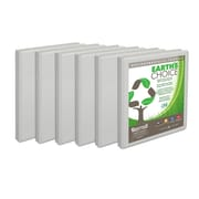 "Samsill® Earth's Choice™ View 1/2"" Round 3-Ring Binder, White, 6/Pack (I08917)"