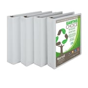 Samsill Earth's Choice 1.5-Inch Round 3-Ring View Binder, White (I08957)