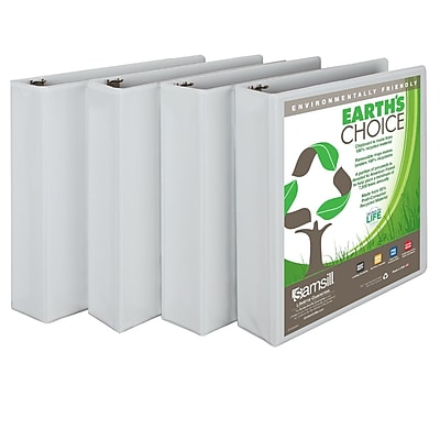 Samsill Earth's Choice 2-Inch Round 3-Ring Binder, White (I08967)