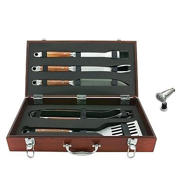 Mr Bar B Q® 5 Piece Tool Set With Genuine Hardwood Case