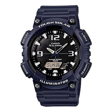 Casio® AQS810W Solar Analog/Digital Wrist Watch, Navy/White