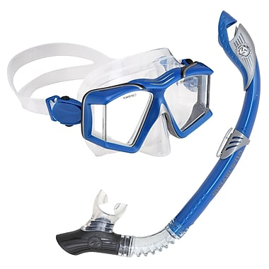 Aqua Lung® U.S. Divers® Sideveiw Paradise LX Snorkel Set, Electric Blue