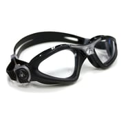 Aqua Lung® Aqua Sphere® Kayenne Regular Fit Goggle With Clear Lens, Black/Silver