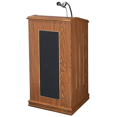 Oklahoma Sound Floor Lectern, Medium Oak (711-MO-LWM-6)