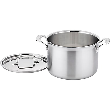 Cuisinart® MultiClad Pro Stainless Steel Triple Ply Stockpot With Cover, 8 qt