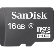 SanDisk® 16GB microSDHC Class 4 Memory Card With Adapter